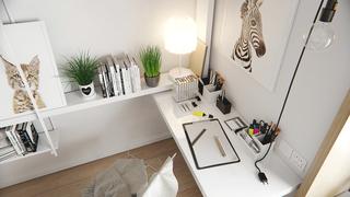 宜家风格公寓装修书桌设计图