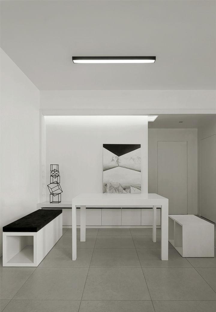 黑白极简风格餐厅装修效果图