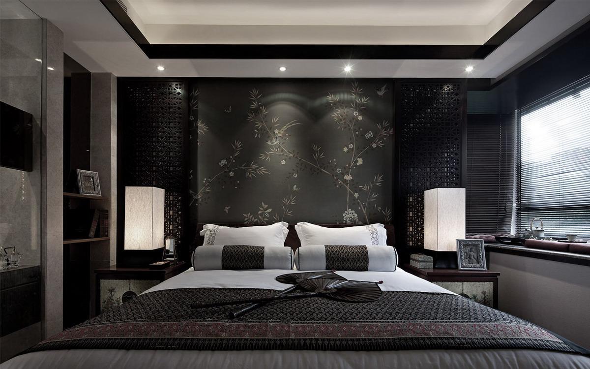 东南亚风格卧室背景墙装修效果图