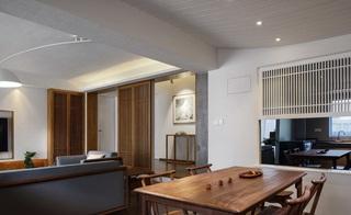简约中式三居室客餐厅装修效果图