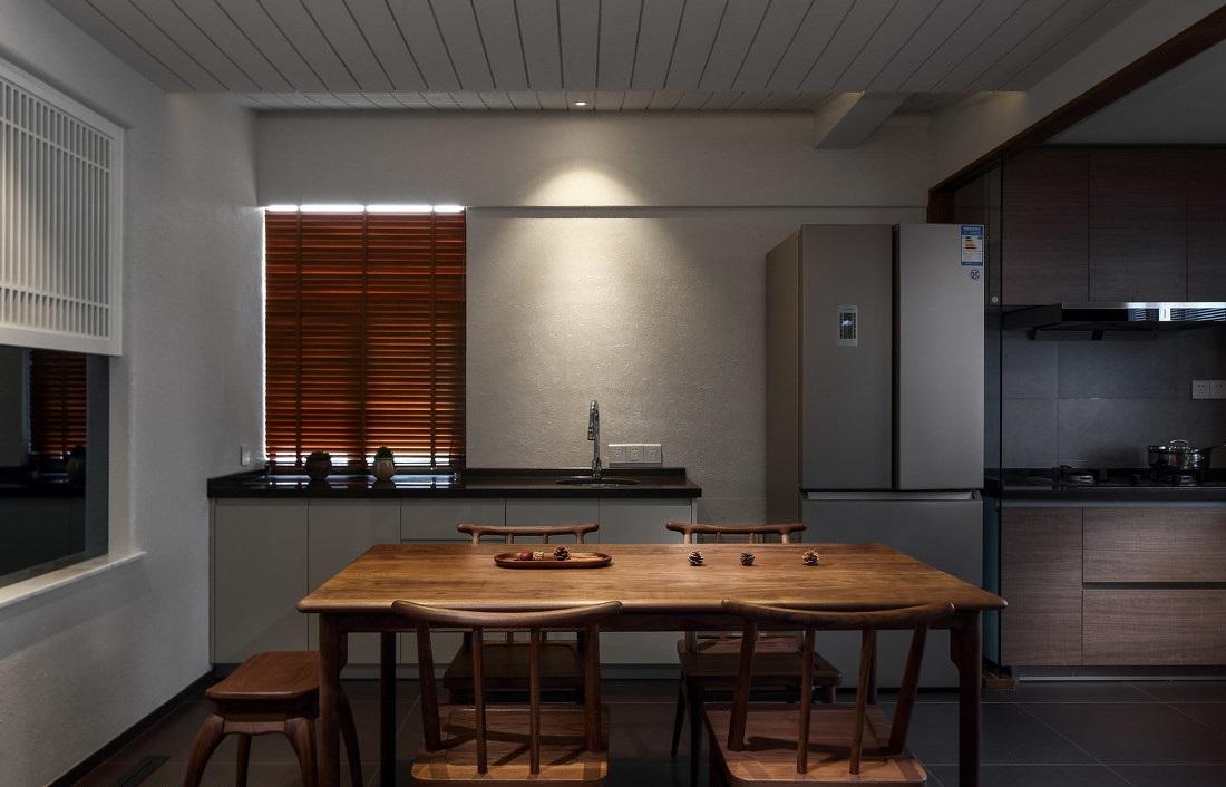 简约中式三居室餐厅装修效果图