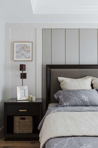 清雅美式风卧室背景墙装修效果图