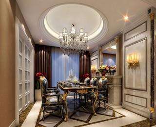 豪华古典欧式风格餐厅装修效果图