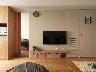 日式风格小户型电视背景墙装修效果图