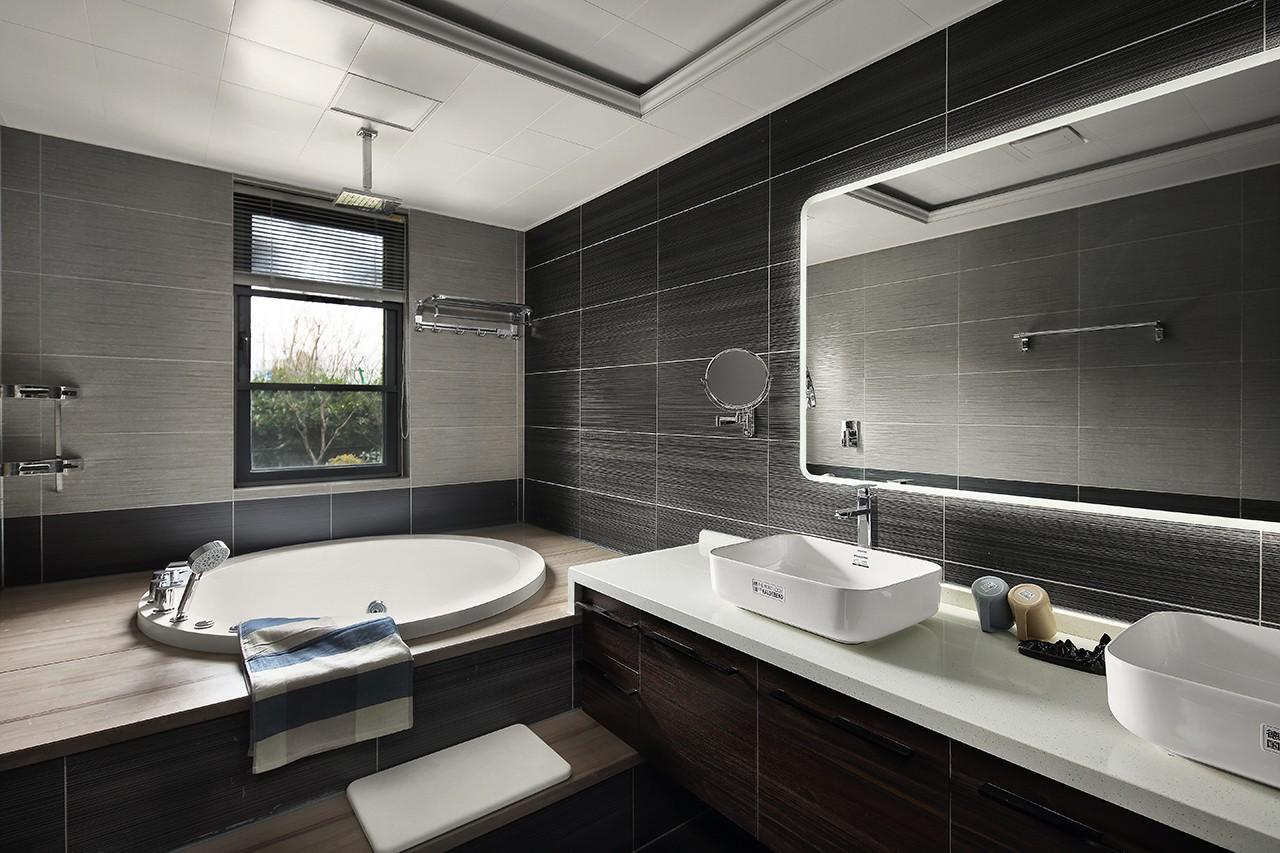 现代风大户型卫生间装修效果图