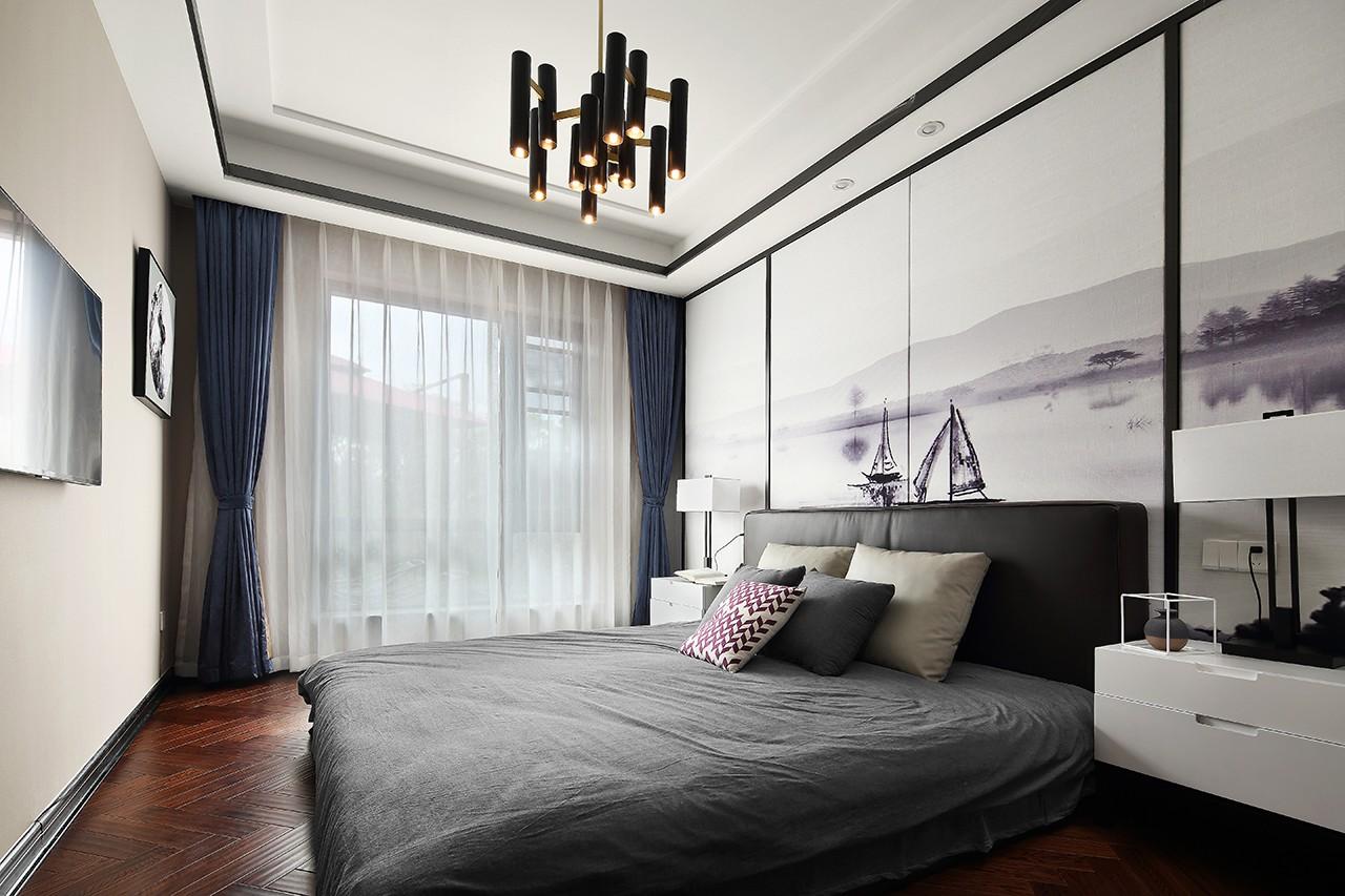 现代风大户型卧室装修设计图