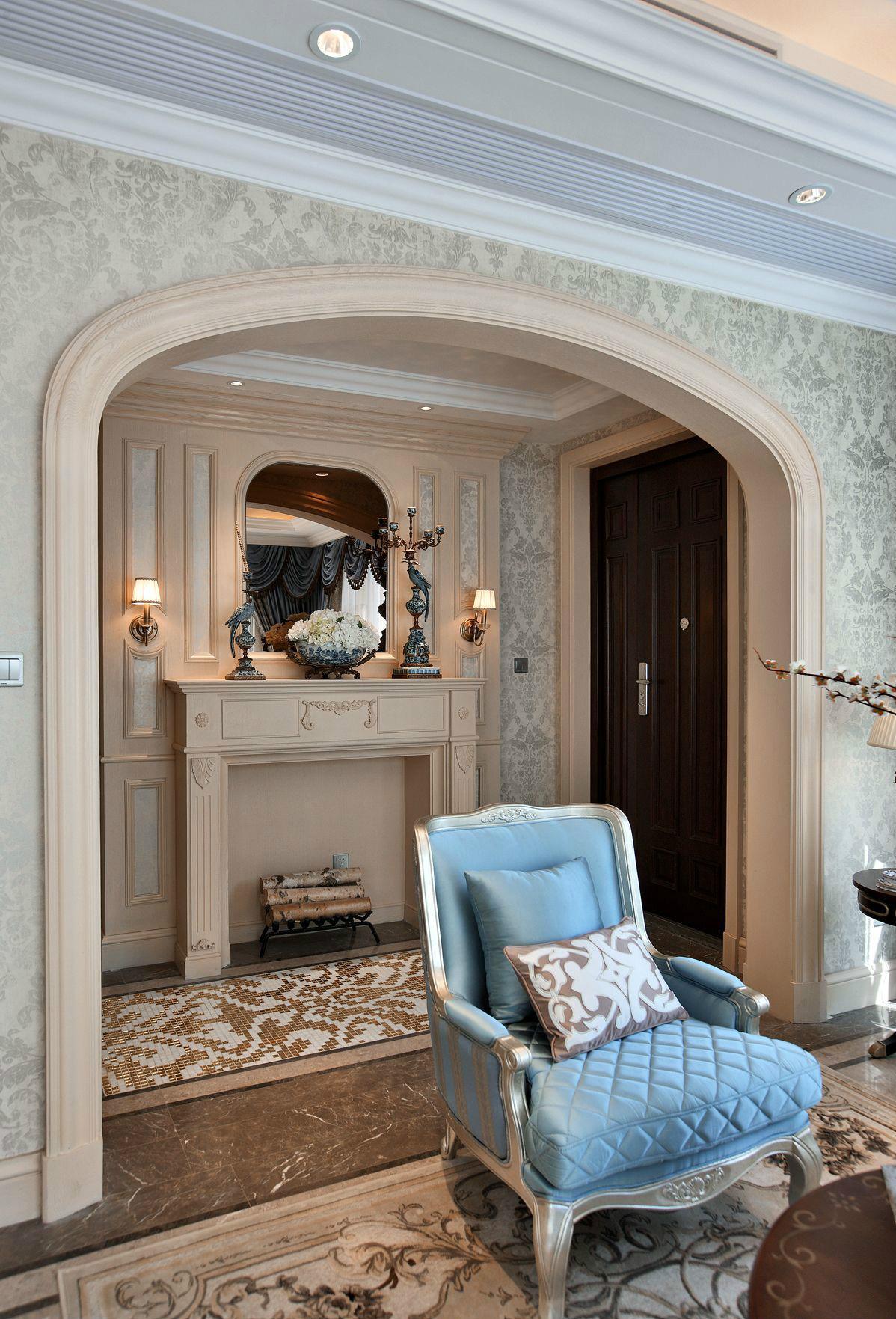 法式风格别墅玄关装修效果图