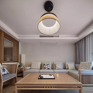 135㎡日式风格客厅装修效果图