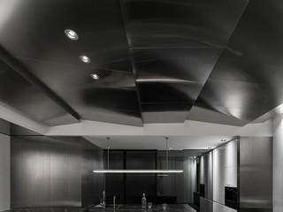 145㎡现代简约餐厅吊顶装修效果图