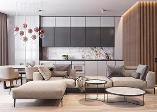 时尚轻奢公寓装修效果图