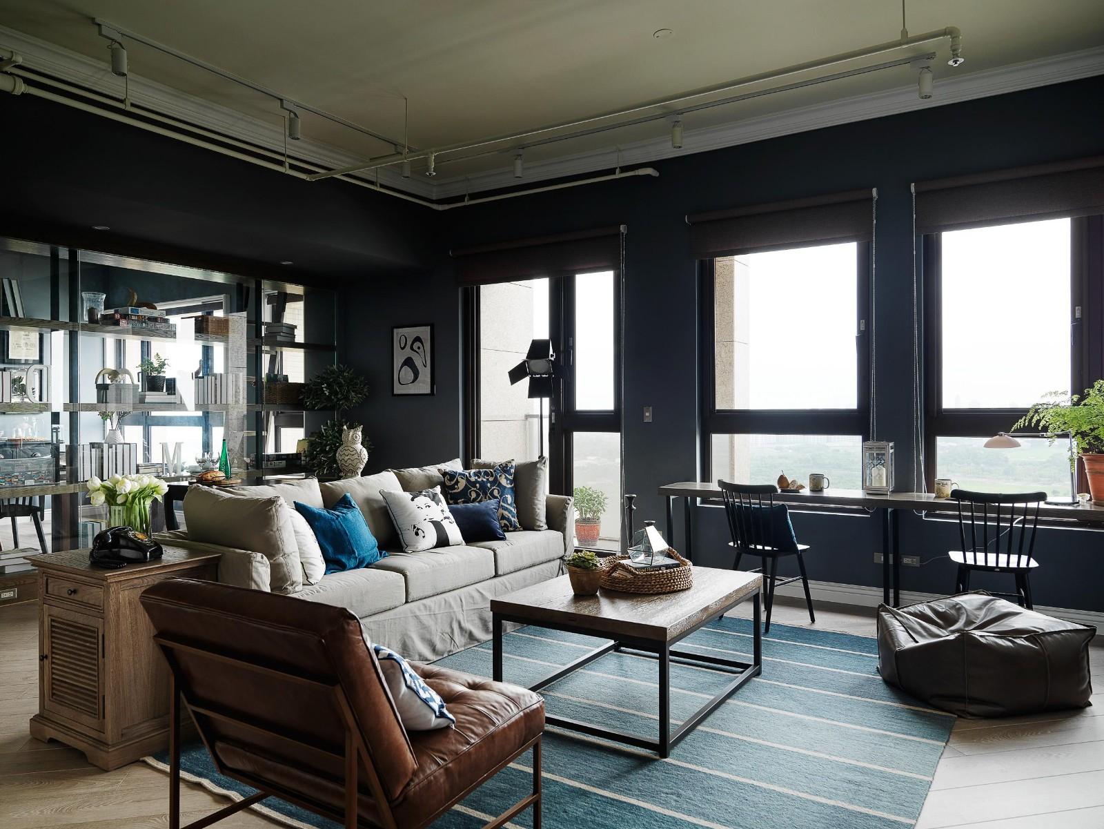 工业风格公寓客厅装修效果图