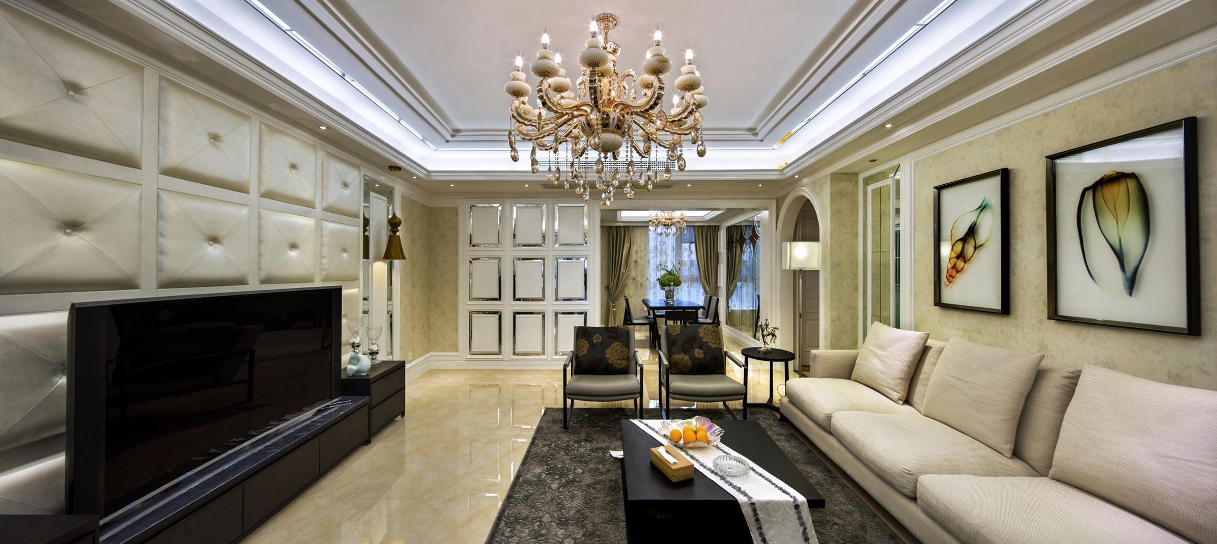 大户型新古典风格客厅装修设计图