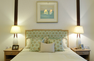 清新美式风格卧室装修效果图