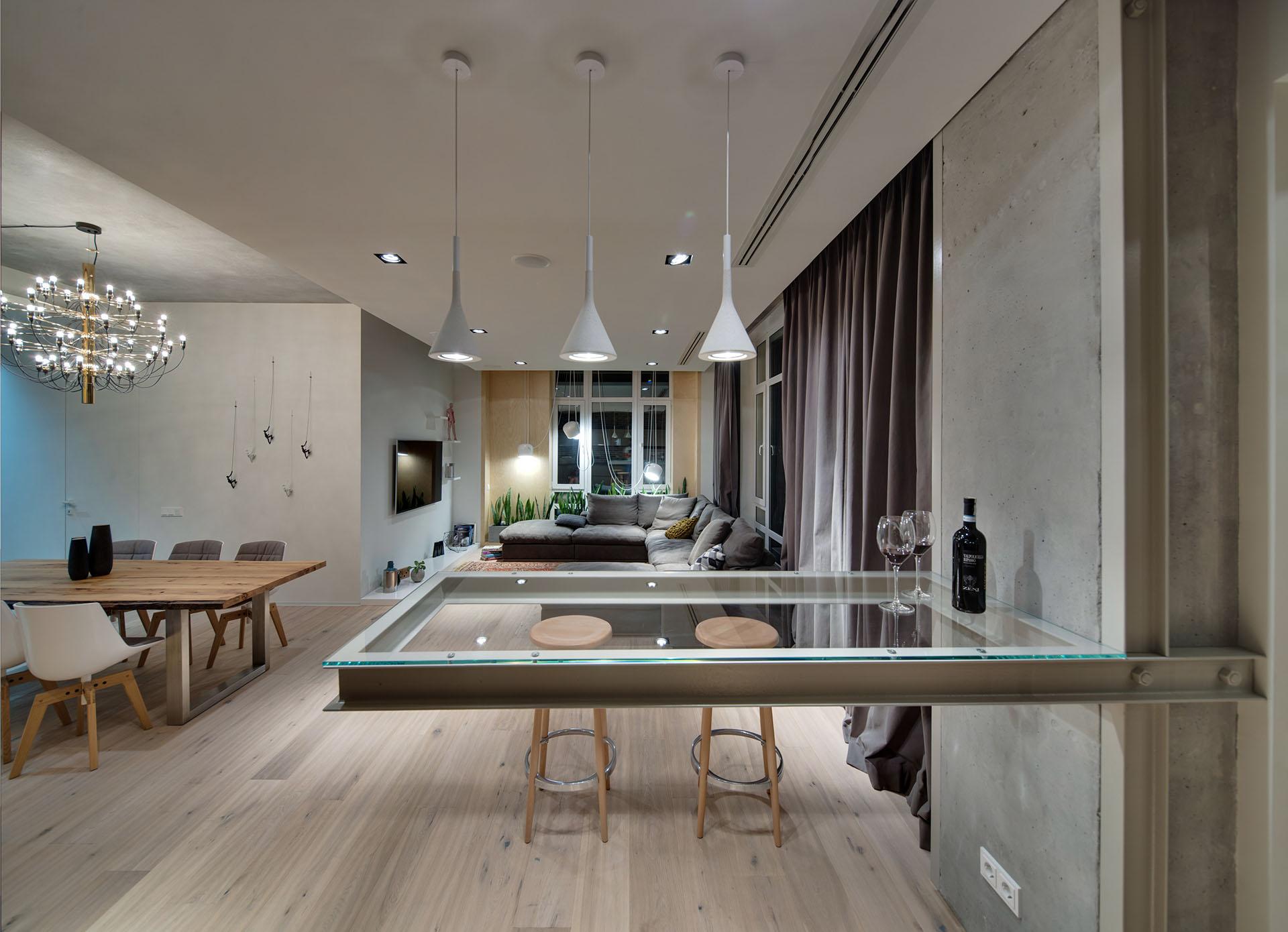 现代混搭公寓吧台装修效果图