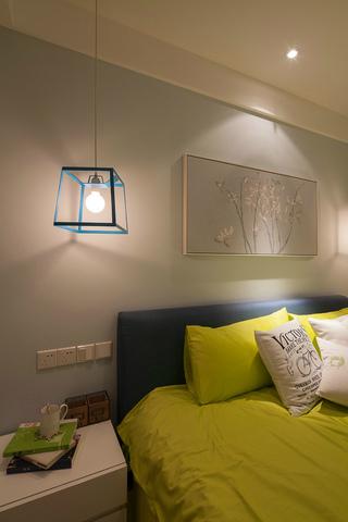 105平现代简约风格装修卧室吊灯设计图