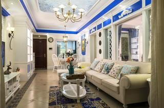 地中海风格三居客厅装修设计图
