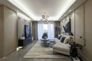 116㎡现代风格客厅装修效果图