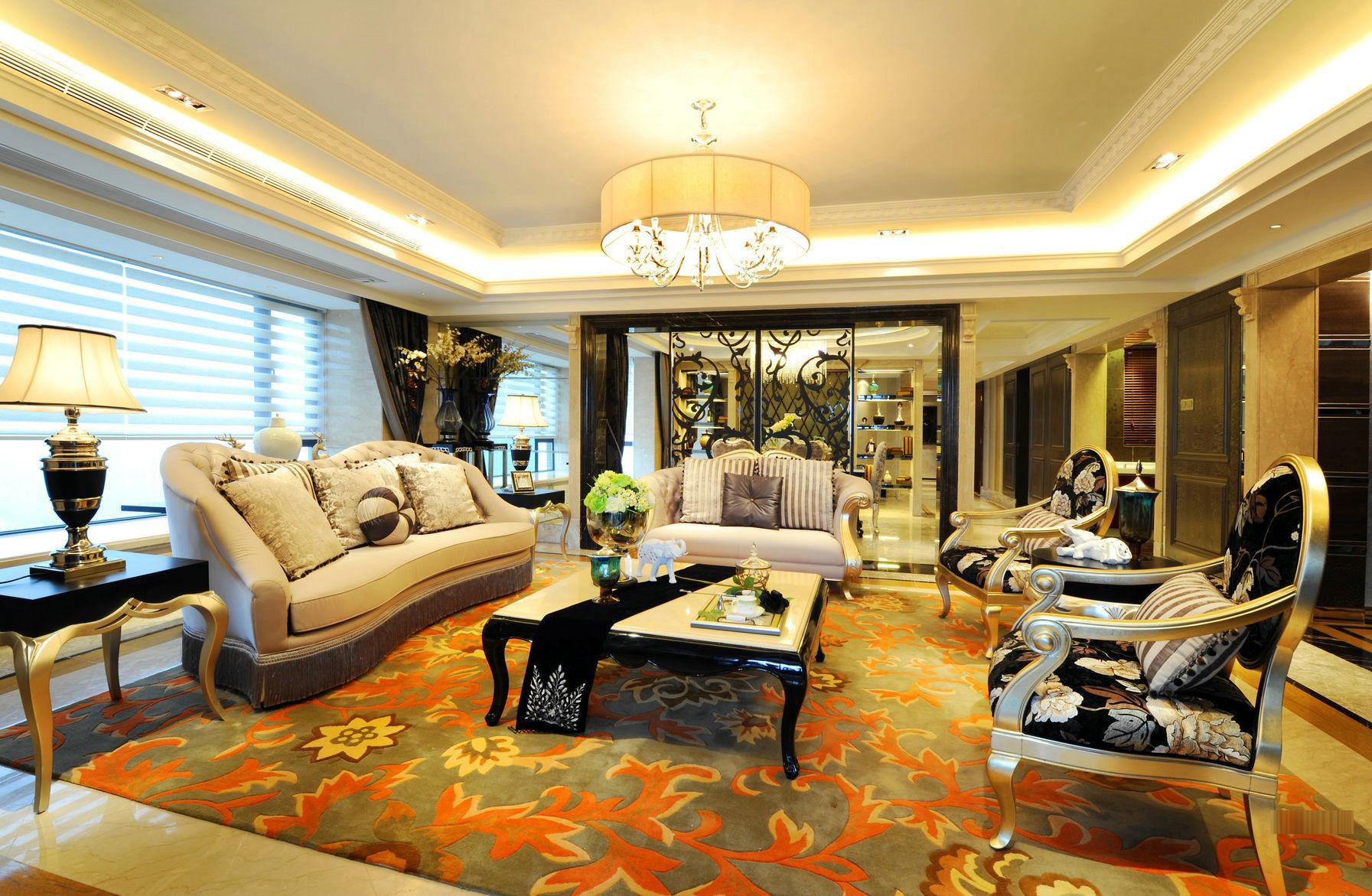 奢华新古典风格客厅装修效果图