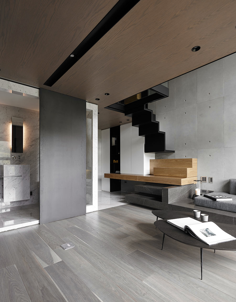 LOFT风格公寓客厅吊顶装修效果图