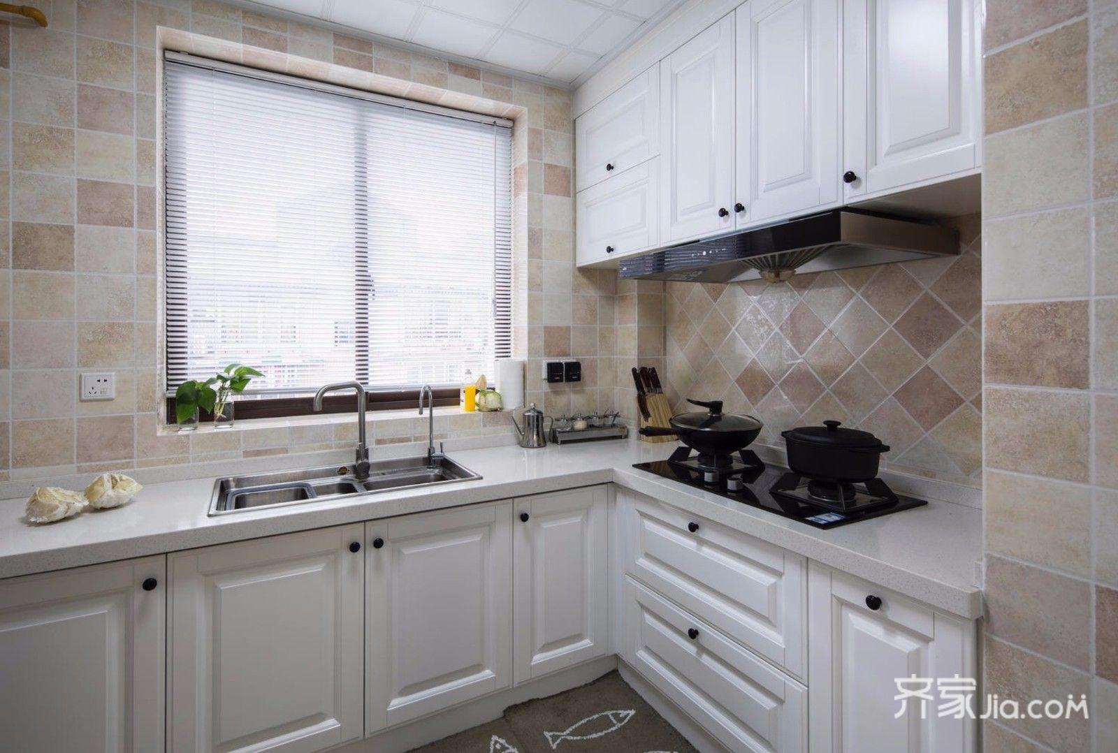 140㎡美式风格厨房装修效果图