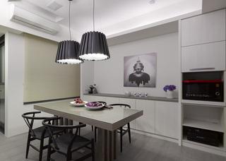 现代简约风格公寓厨房装修设计图