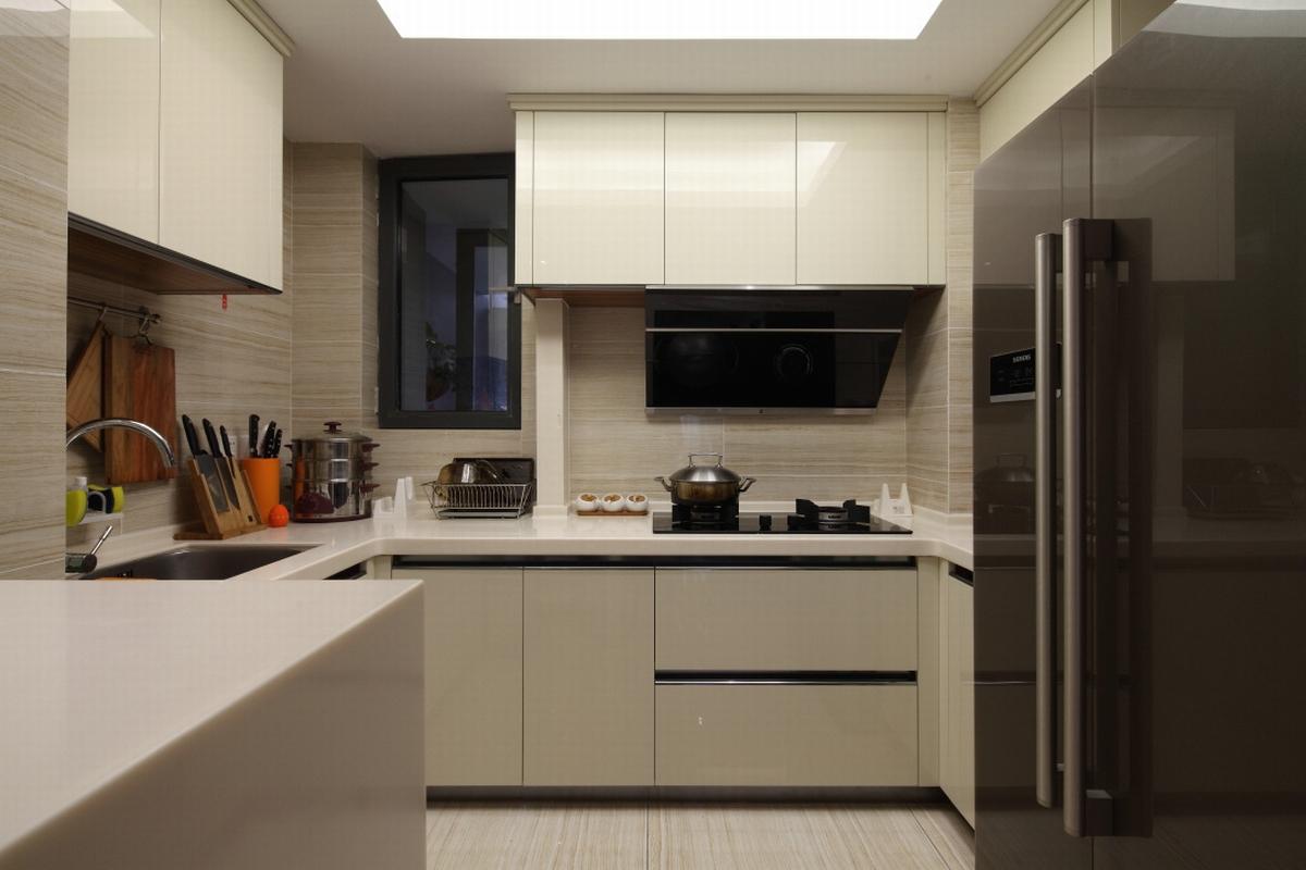 现代混搭风格三居厨房装修设计图