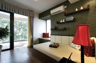 东南亚风格三居榻榻米卧室装修设计图