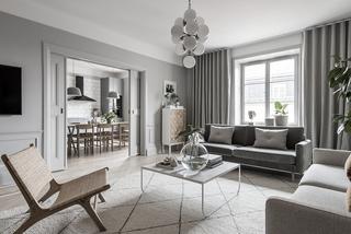 高级灰现代公寓客厅装修效果图