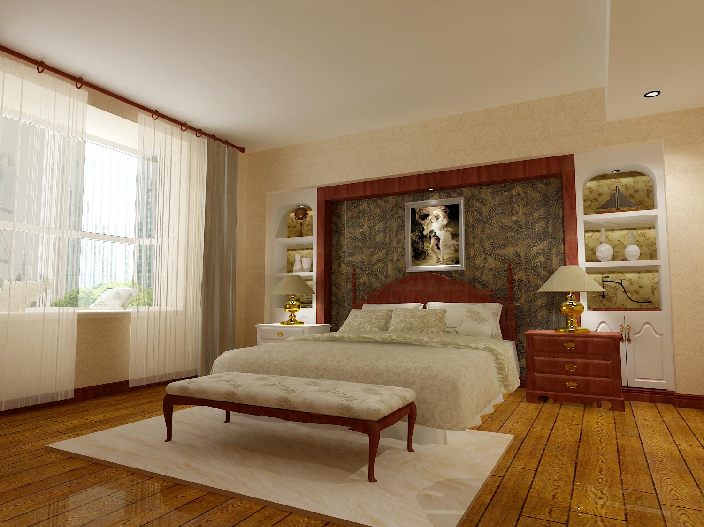 138㎡美式风格卧室装修效果图