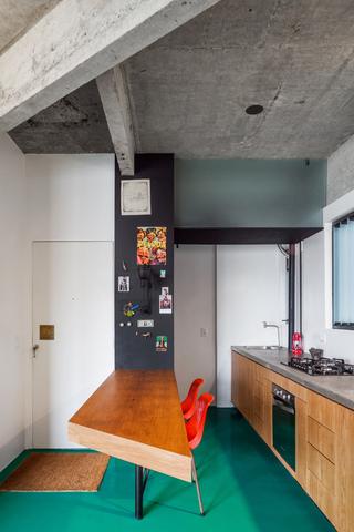 40平米水泥公寓餐厅装修效果图