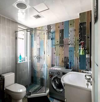混搭风格二居卫生间装修设计图