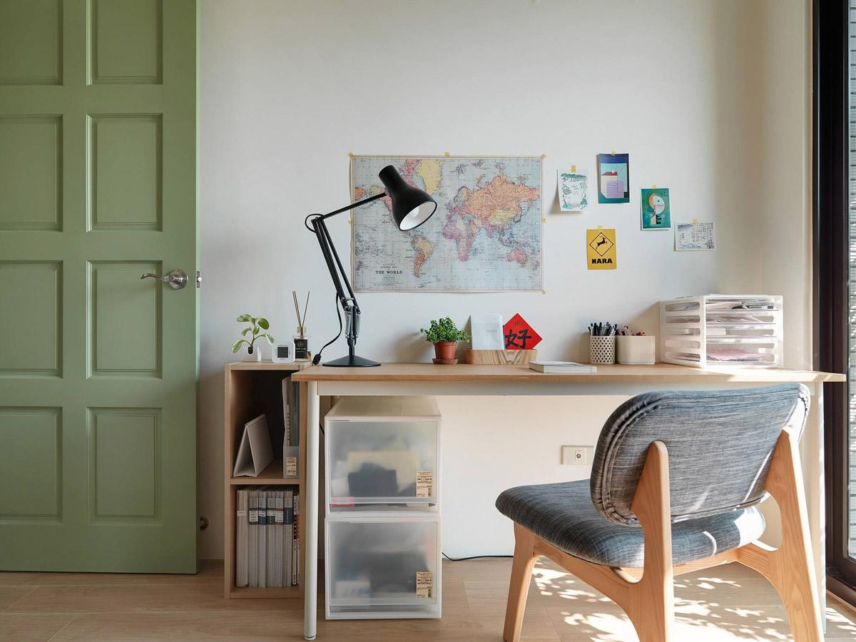日式极简风二居装修书桌设计图