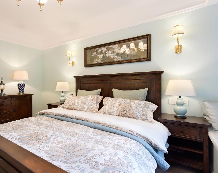 160平米美式风格卧室装修效果图