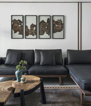 禅意新中式风格装修沙发设计图
