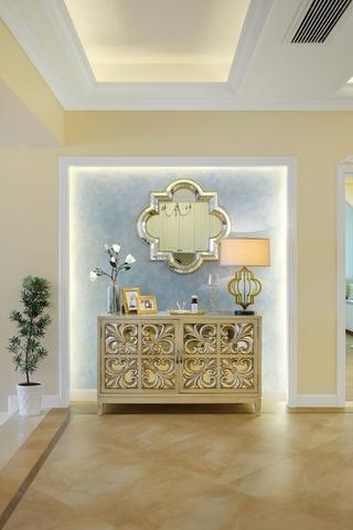 大户型美式风装修玄关柜设计图