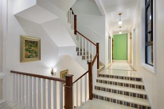 美式混搭风别墅楼梯装修效果图