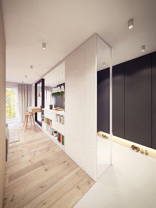 60㎡现代公寓玄关装修效果图