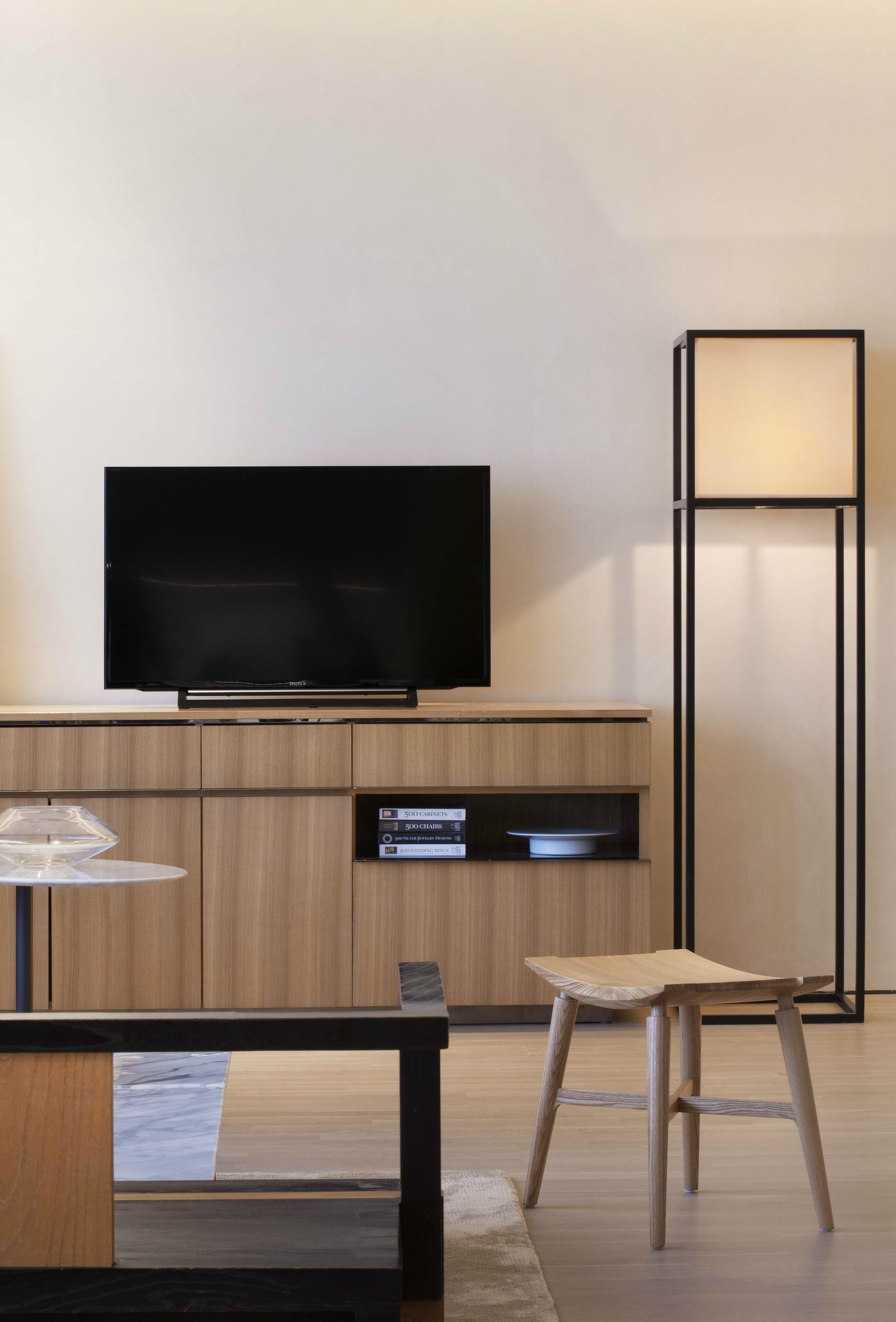 简约新中式风格装修电视柜设计图