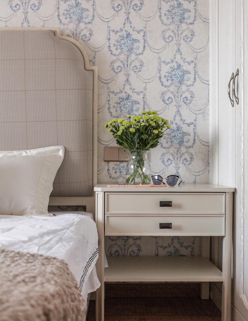 120㎡美式风格装修床头柜设计图