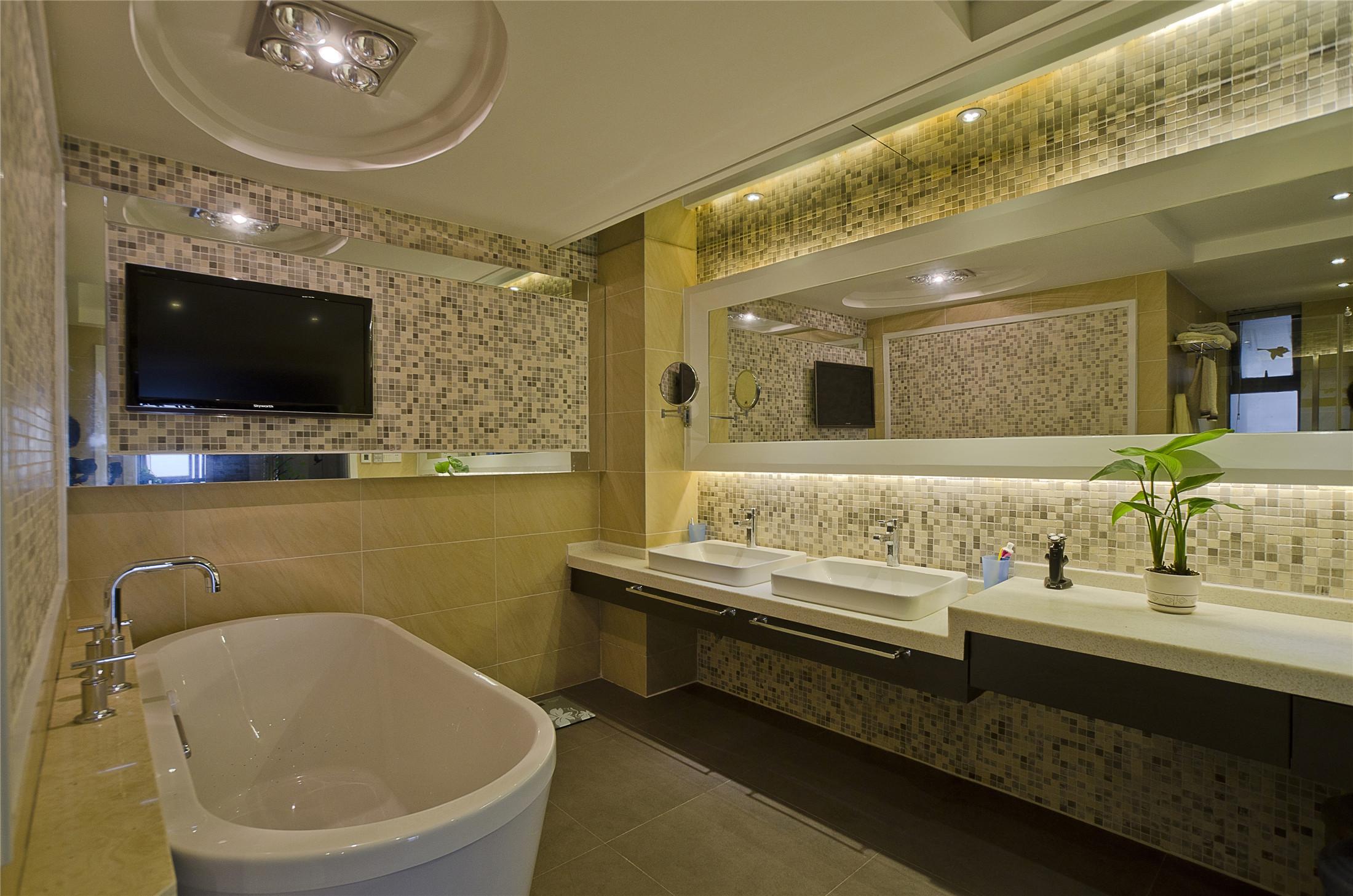 现代中式卫生间装修设计效果图