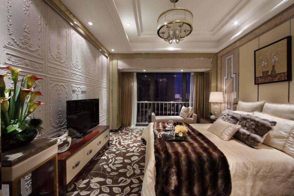 130平现代轻奢卧室装修效果图