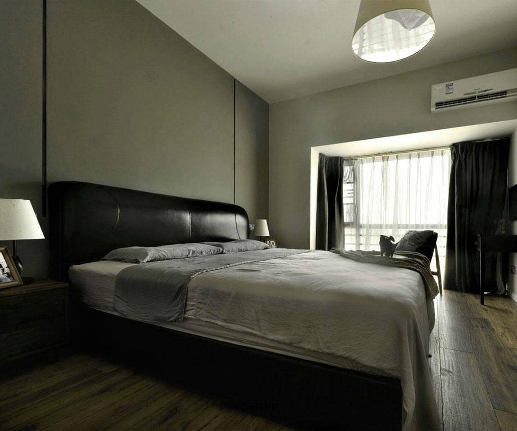 黑白灰现代风格卧室装修效果图