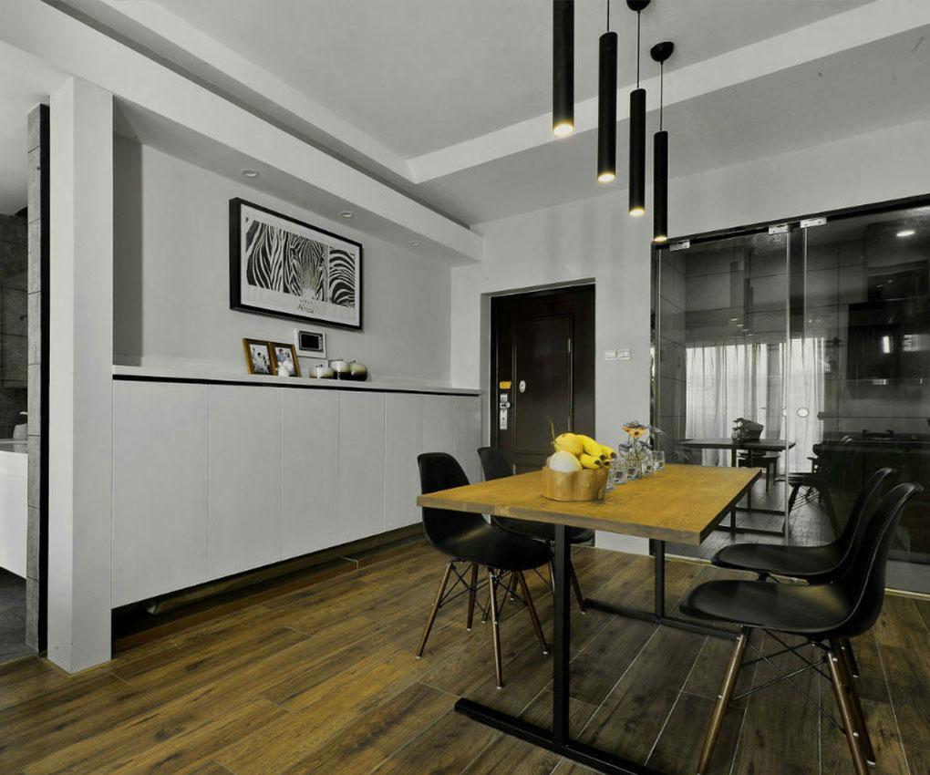 黑白灰现代风格餐厅装修效果图