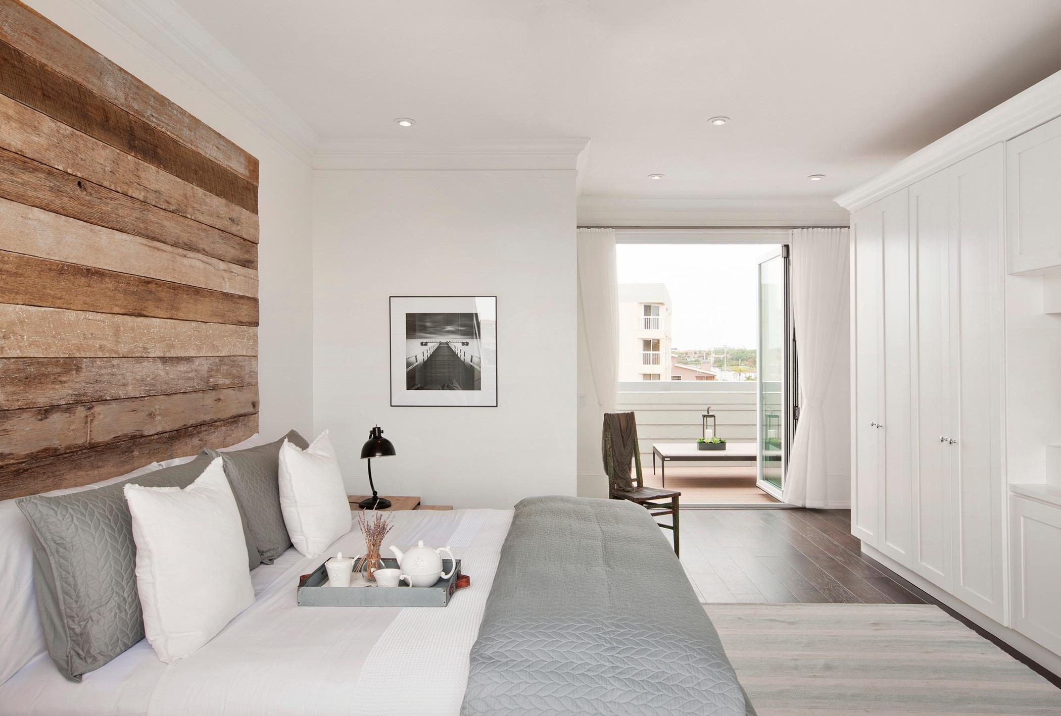 现代复古风公寓卧室装修效果图