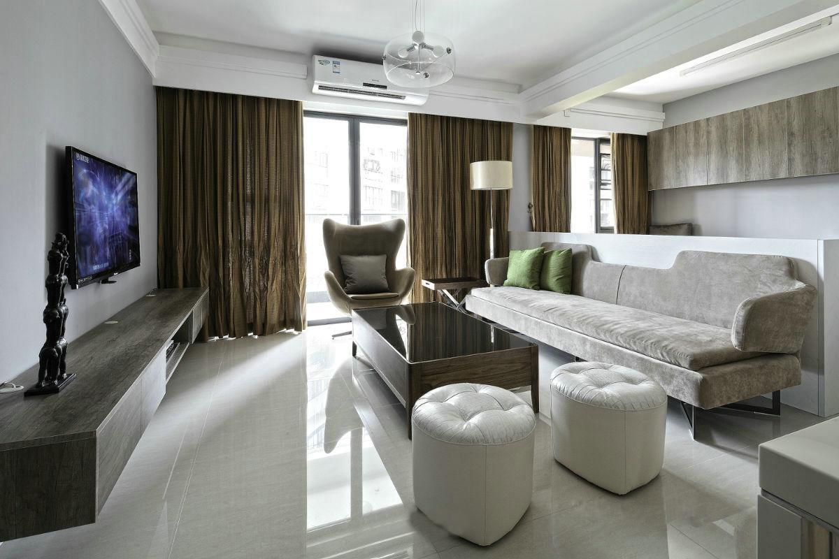 现代简约风格三居室装修效果图