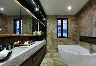 现代中式别墅卫生间装修效果图