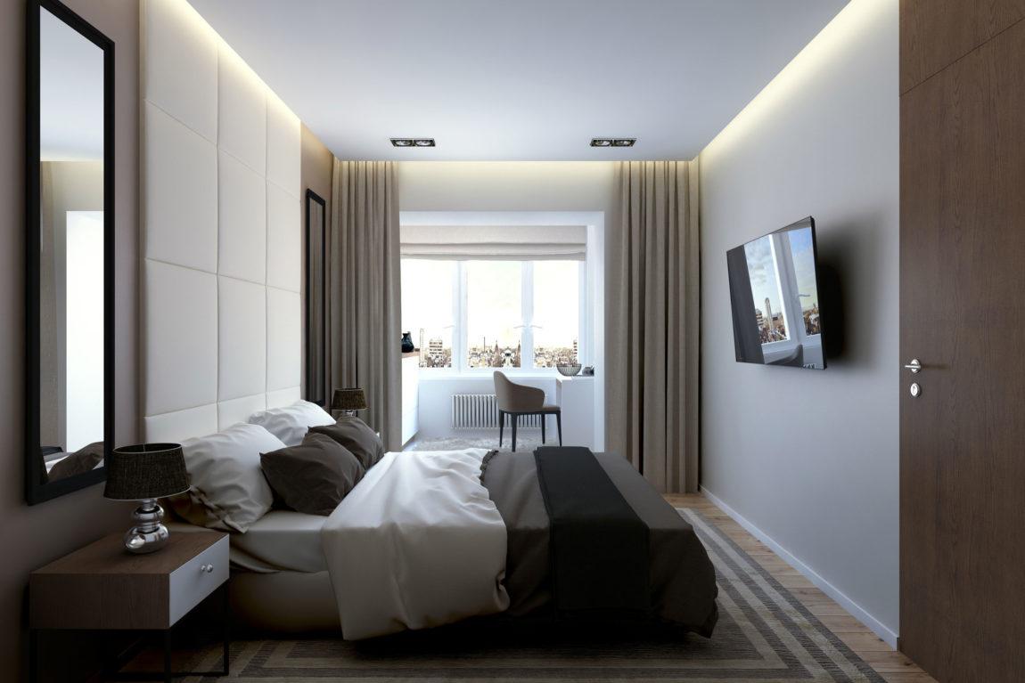 现代简约风公寓卧室装修效果图