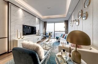 时尚轻奢样板房客厅装修效果图