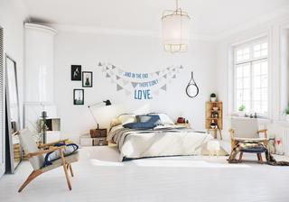 白色北欧风公寓卧室装修效果图