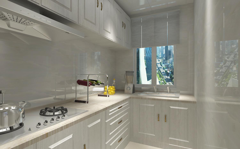 120平简约风格厨房装修效果图